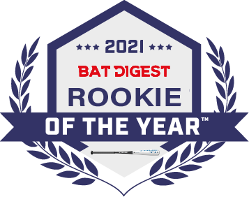 True Basebll Bat awarded Bat Digest Rookie of the Year 2021